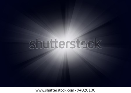 The Sun burst with blue background - stock photo