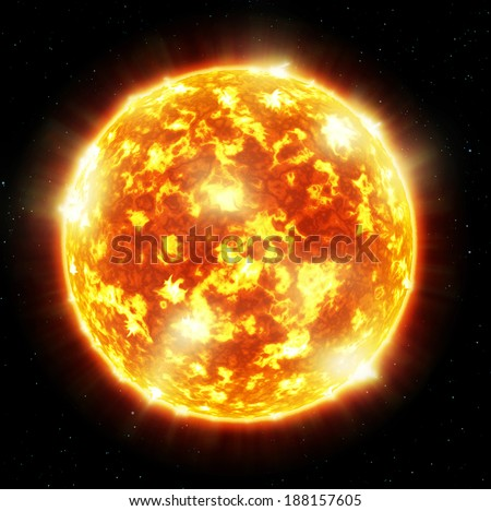 The sun- Elements of this image furnished by NASA