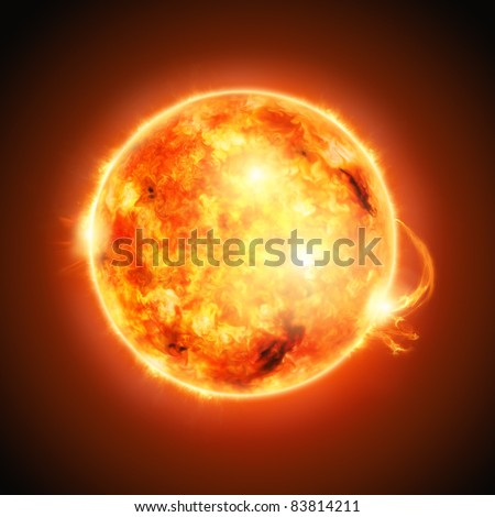 The Sun, half way through it's main-sequence evolution. - stock photo