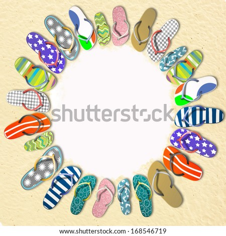 The sun of sneakers, travel - stock photo
