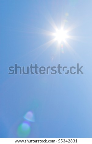 The Sun on a clear sky