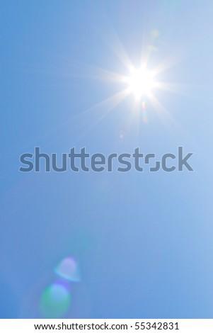 The Sun on a clear sky - stock photo