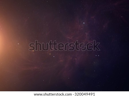 The Sun shot from space showing all they beauty. Extremely detailed image, including elements furnished by NASA. Other orientations and planets available. - stock photo