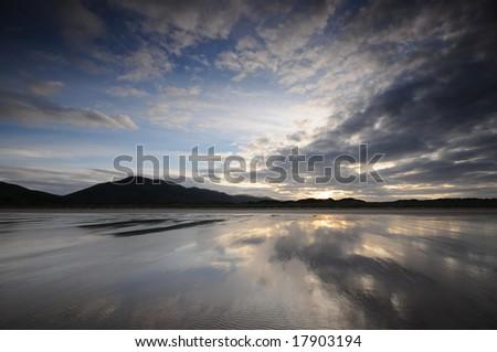 The sunrise - stock photo
