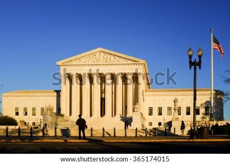 The Supreme Court in Washington DC, USA - stock photo