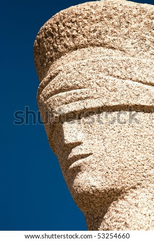 The Supreme Court  is the highest instance of the Judiciary Power in Brazil.The sculpture in front of the Court is called A Justi�§a (The Justice), a piece by Alfredo Ceschiatti - stock photo