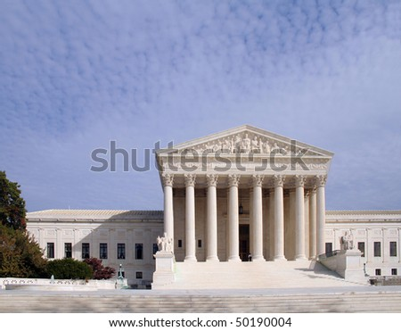 The Supreme Court of the United States in Washington D.C. - stock photo