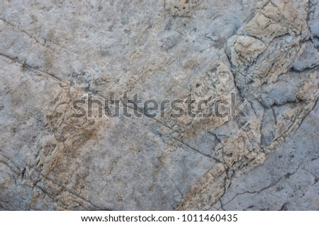 The surface layer of rock
