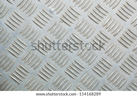The surface of the area covered with iron - stock photo