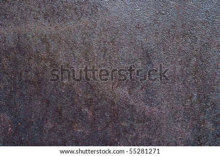 The surface of the old metal, visible rust - stock photo