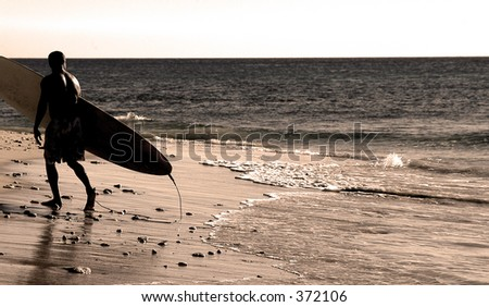 The Surfer - stock photo