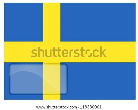 The Swedish flag painted on postal envelope - stock photo