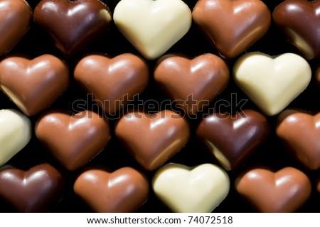 ngọt ngào nền trái tim sô cô la