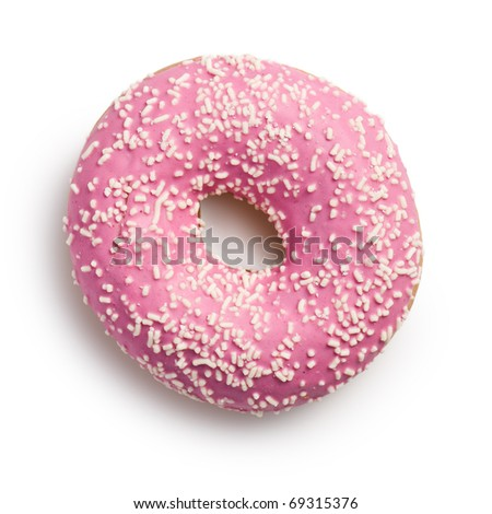 the sweet doughnut on white background - stock photo