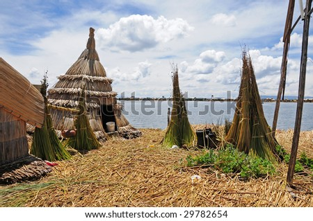The swimming islands of the uros people, peru