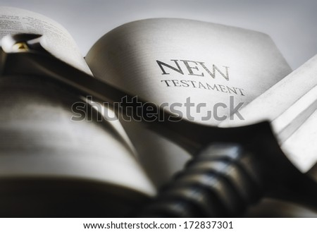The Sword Of The Spirit, The Bible - stock photo