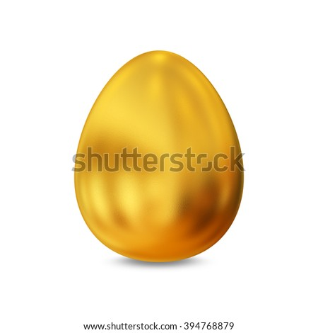 The symbolic image of a golden egg with shadow. - stock photo