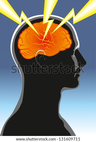 The symbolic image of mental health - stock photo