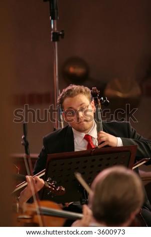 The symphonic musician - stock photo