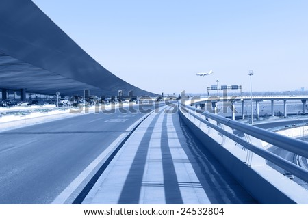 the T3 airport building in beijing - stock photo