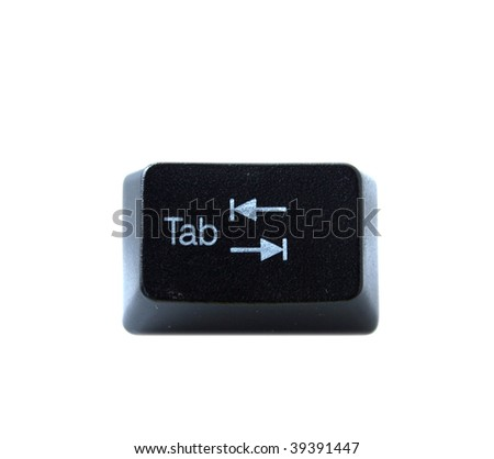 The Tab key from a black computer keyboard - stock photo