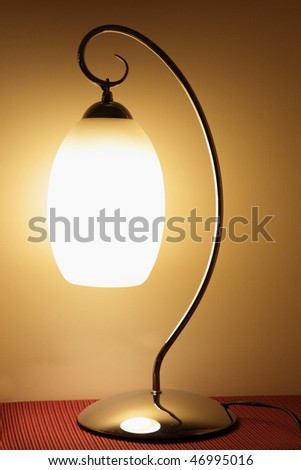 the table lamp - stock photo