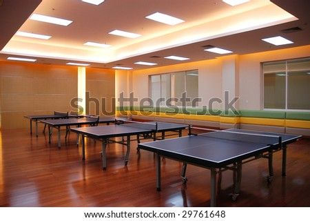 the table tennis field - stock photo