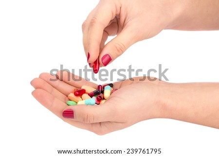 The tablet in her hand - stock photo