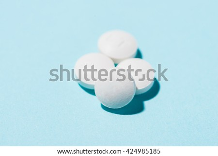 The tablets close up. A medical background - stock photo