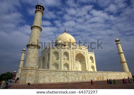 The Taj Mahal - stock photo