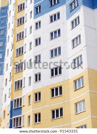 The tall Apartments Building as a background - stock photo