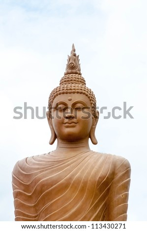 The tall buddha in place. Thailand - stock photo
