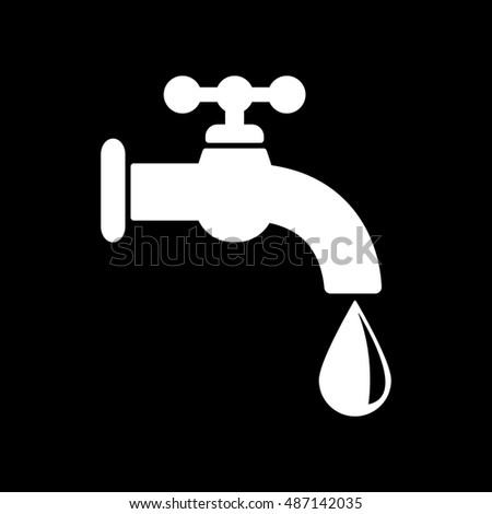 The tap water icon. Water symbol. Flat  illustration