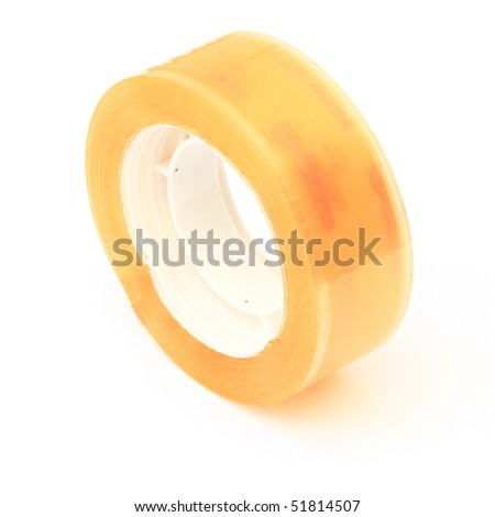 The tape isolated on white background - stock photo