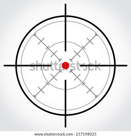 the target - stock photo