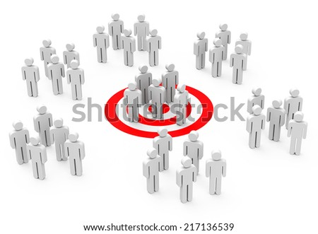 the target group - stock photo