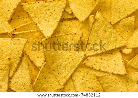 the tasty nachos chips background - stock photo