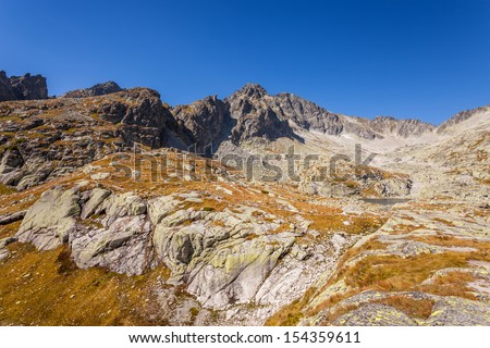 The Tatra Mountains - highest mountain range in the Carpathian Mountains
