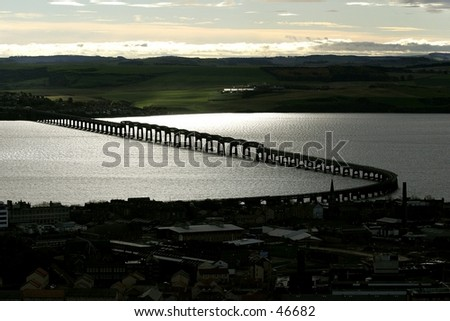 The Tay Railway Bridge From Dundee Law