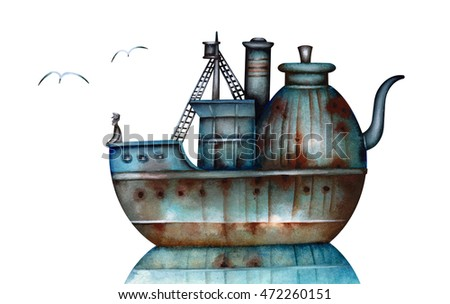 The tea ship - an allegory of the tea party