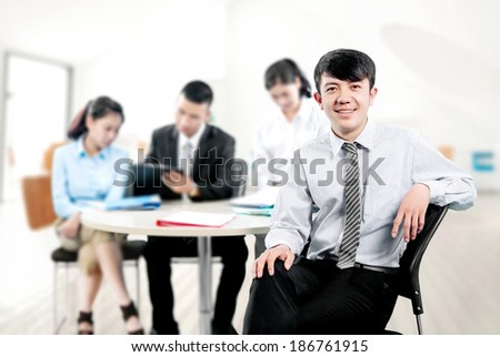 The team cooperation - stock photo