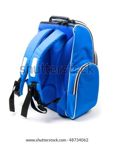 The Teenagers backpack (isolated on white) - stock photo
