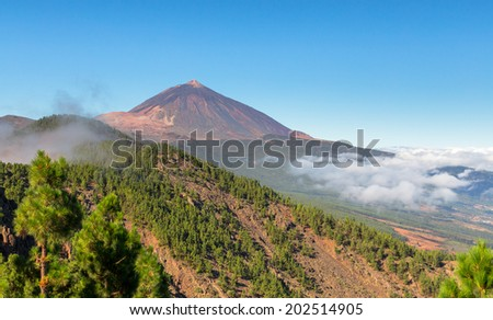 The Teide volcano in Tenerife, Spain. - stock photo