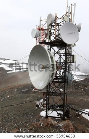 The telecom mast - stock photo