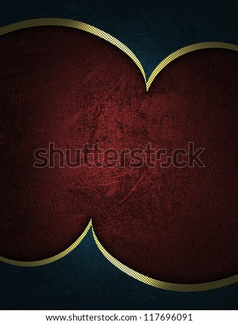 The template for the inscription. Abstract blue Background with red nameplate. - stock photo