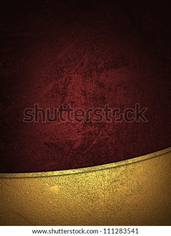The template for the inscription. Red background with gold nameplate. - stock photo
