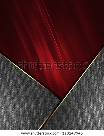 The template for the inscription. Red Background with metal nameplate for writing. Abstract background. - stock photo