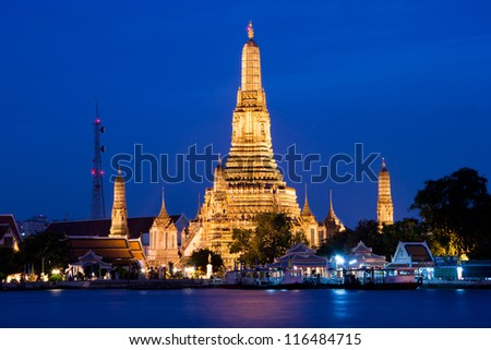The temple in Bangkok, Thailand/Wat Arun temple in Bangkok,Thailand - stock photo