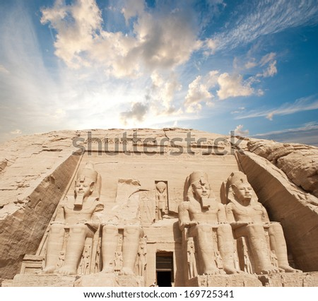 The temple of Abu Simbel in Egypt  - stock photo
