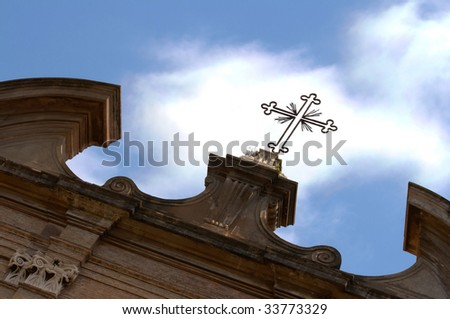 The Temple of Antoninus Pius and Faustina in Rome - stock photo